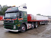 Chas. Long & Son Aggregates wagon loaded with bags